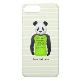 Panda Wearing A Funny Warning T-shirt iPhone 7 Plus Case