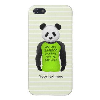Panda Wearing A Funny Warning T-shirt iPhone SE/5/5s Cover