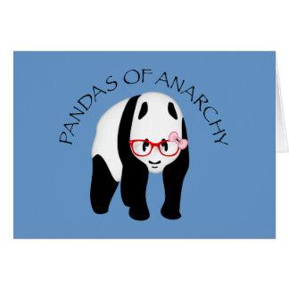 Panda wearing glasses Anarchy Card