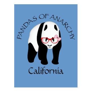 Panda wearing glasses Anarchy Postcard