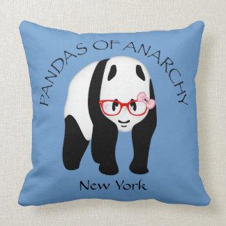 Panda wearing glasses Anarchy Throw Pillow