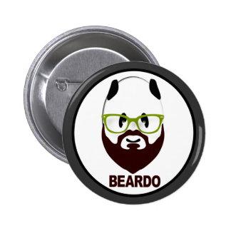 Panda wearing green glasses BEARDO Pinback Button