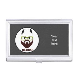 Panda wearing green glasses BEARDO Case For Business Cards