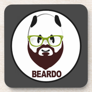 Panda wearing green glasses BEARDO Drink Coaster