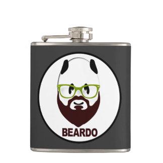 Panda wearing green glasses BEARDO Hip Flasks