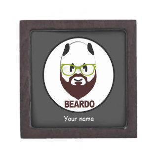 Panda wearing green glasses BEARDO Keepsake Box