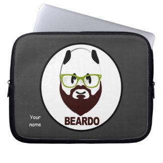 Panda wearing green glasses BEARDO Laptop Computer Sleeve