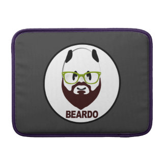 Panda wearing green glasses BEARDO MacBook Sleeve