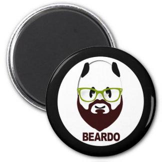 Panda wearing green glasses BEARDO Magnet