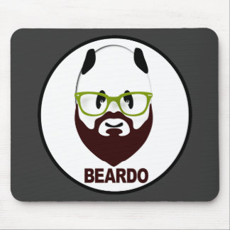 Panda wearing green glasses BEARDO Mouse Pad