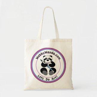 Panda webbywanda.com Logo Tote Bag