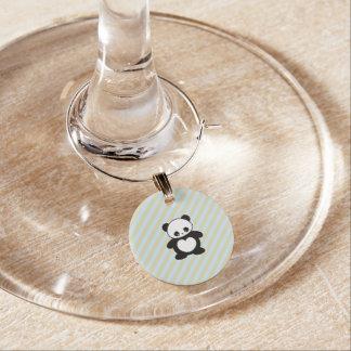Panda Wine Glass Charm