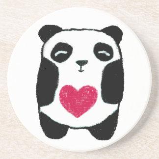 Panda with a heart Coaster