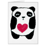 Panda with a heart Note Card