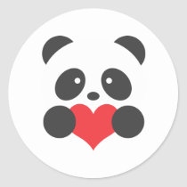 Panda with a heart stickers