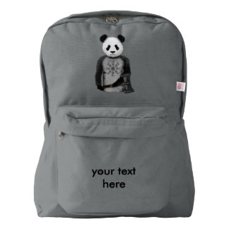 Panda With A Viking War Hammer American Apparel™ Backpack