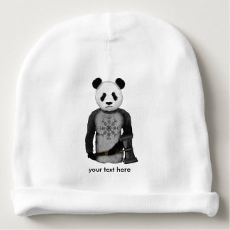 Panda With A Viking War Hammer Baby Beanie