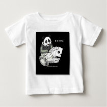 panda with aces design baby T-Shirt