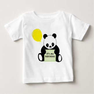 Panda With Ballon Customizable Name Age & More Baby T-Shirt