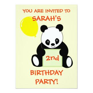 Panda With Ballon Customizable Name Age & More Card