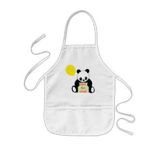 Panda With Ballon Customizable Name Age & More Kids' Apron