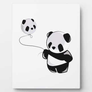 Panda With Balloon Plaques
