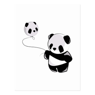 Panda With Balloon Postcard