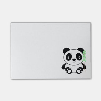 Panda with Bamboo Post-it® Notes