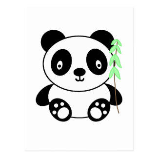 Panda with Bamboo Postcard