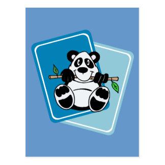 Panda with Bamboo Postcard