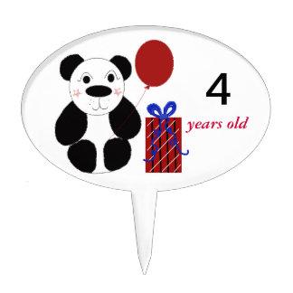 Panda with Birthday Balloon Cake Topper