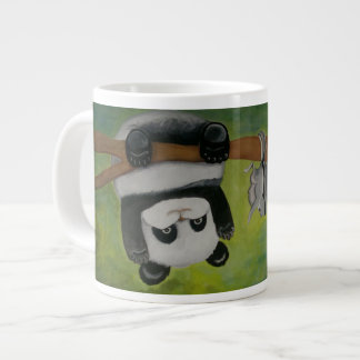Panda with flying squirrel giant coffee mug