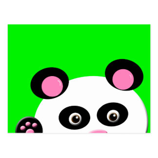 Panda with Green Background Postcard