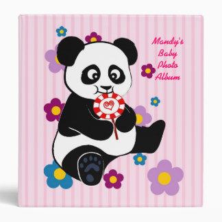 Panda with lollipop binder