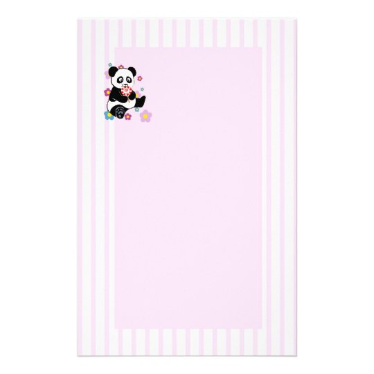 Panda with lollipop stationery