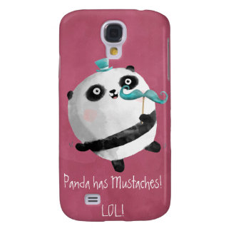 Panda with Mustaches Galaxy S4 Cover