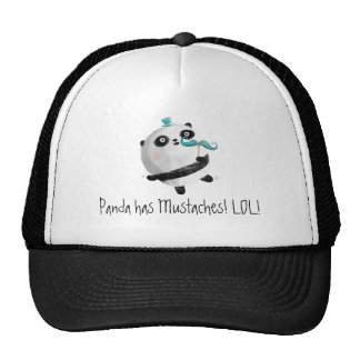 Panda with Mustaches Trucker Hat