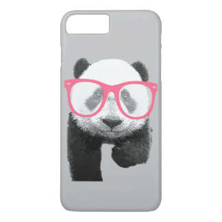 Panda with Pink Glasses Cute Funny Phone 7+ Case