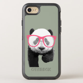 Panda with Pink Glasses Cute Funny Phone OtterBox Symmetry iPhone 8/7 Case