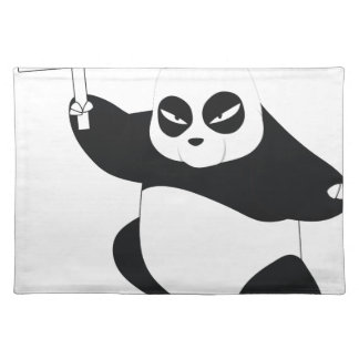 Panda with poster placemat