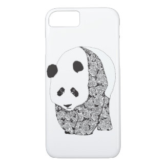 Panda With Roses Tattoo Illustration iPhone 8/7 Case