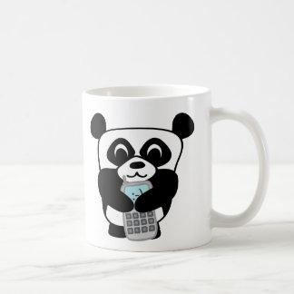 Panda with Silver Cell Phone Coffee Mug