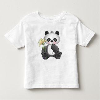 Panda with Yellow Flower T-shirt
