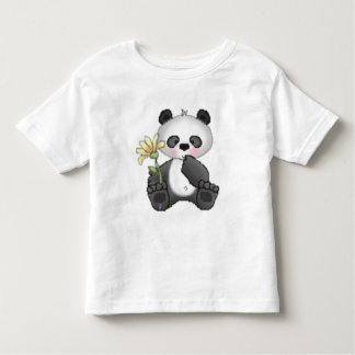 Panda with Yellow Flower Toddler T-shirt