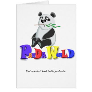Panda World  Card
