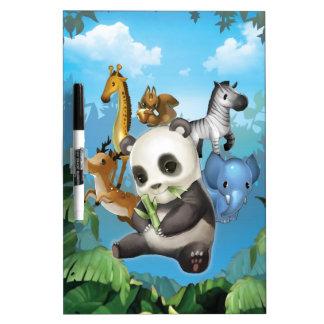 panda y amigo pizarra