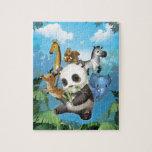 panda y amigo puzzles con fotos