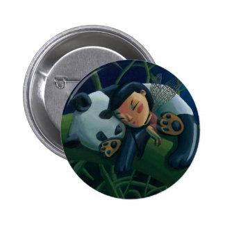 Panda y hada pin redondo 5 cm