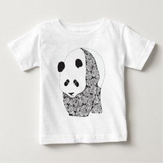 Panda y rosas playera