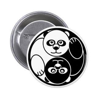 Panda Yin Yang 2 Inch Round Button